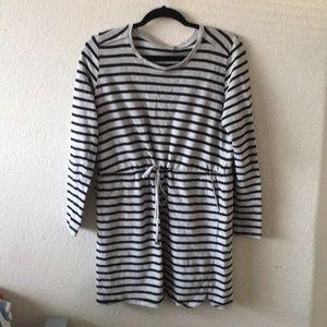 Black and grey striped dress